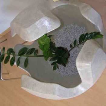 Kugel mit Pflanze