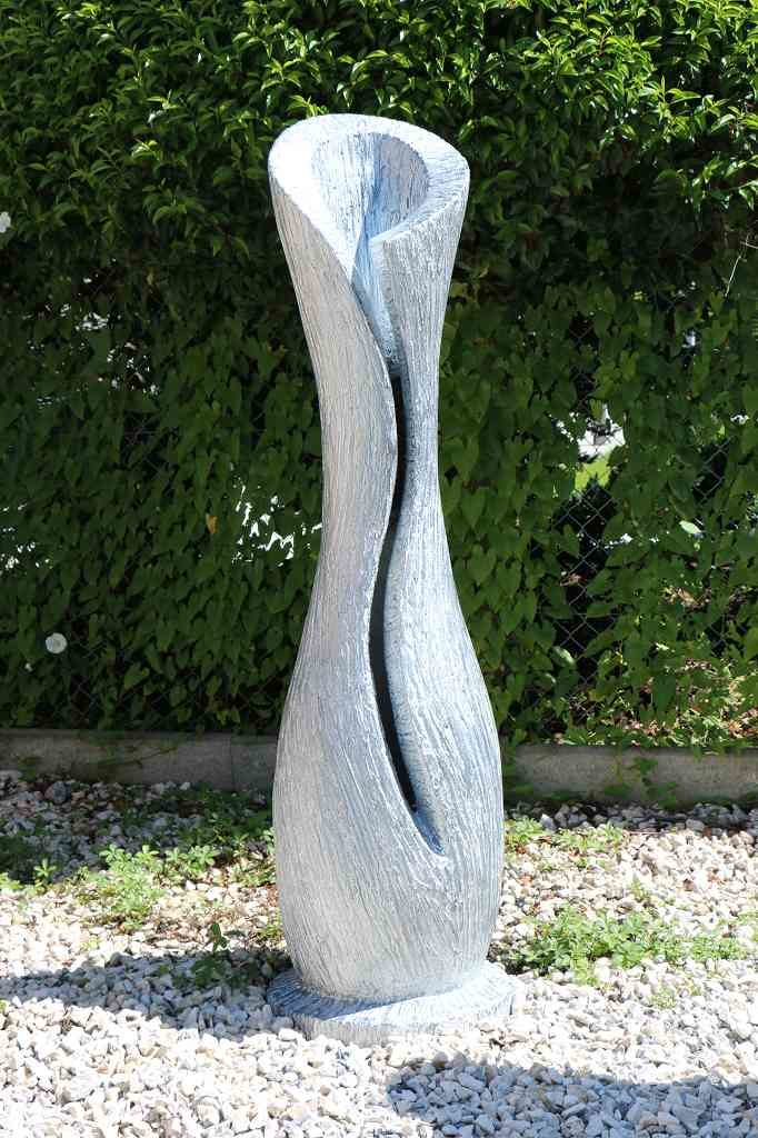 Skulptur Vase/Amphore silber glänzend