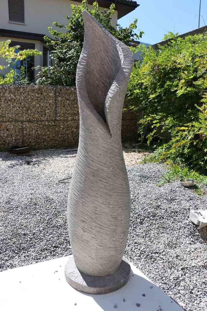 Skulptur Vase/Amphore hellgrau, gross